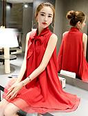 hesapli Print Dresses-Kadın's Kılıf Elbise - Solid Mini