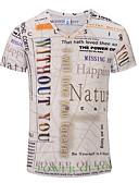"""זול תחתוני גברים אקזוטיים-3D צווארון V האיחוד האירופי / ארה""""ב גודל טישרט - בגדי ריקוד גברים בז' / שרוולים קצרים"""