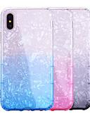 זול מגנים לאייפון-מארז iPhone XS מקס / iPhone 8 פלוס שקוף / shockproof כיסוי גב צבע צבע / tpu רך שקוף עבור iPhone 7/7 פלוס / 8/6/6 פלוס / xr / x / xs