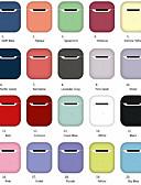 Недорогие Чехлы AirPods-Защитный чехол Простой стиль Apple Airpods Защита от удара кремнийорганическая резина
