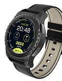 hesapli Dijital Saatler-Erkek Akıllı İzle Dijital Modern Stil Stortif Gerçek Deri 30 m Su Resisdansı Kalp Ritmi Monitörü Bluetooth Dijital Günlük Dış Mekan - Siyah Gümüş