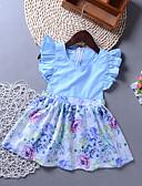 זול שמלות לתינוקות-שמלה ללא שרוולים דפוס בנות תִינוֹק