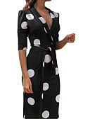 זול שמלות מודפסות-עד הברך דפוס, מנוקד - שמלה נדן אלגנטית בגדי ריקוד נשים