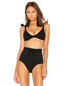 זול בגדי ים במידות גדולות-שחור S M L פפיון שרוכים לכל האורך גיאומטרי שבטי, בגדי ים חלק אחד (שלם) נועזת מותן גבוה שחור בסיסי בוהו בגדי ריקוד נשים