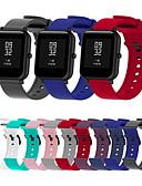 זול להקות Smartwatch-ספורט צבע מוצק סיליקון פרק היד לצפות עבור xiaomi huami amazfit bip younth לצפות