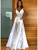 hesapli Mini Elbiseler-Kadın's Sokak Şıklığı Çan Elbise - Solid, Kırk Yama Maksi