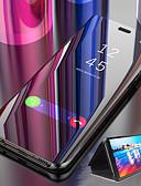 זול מגנים לטלפון-נרתיק להחליק מראה חכם עבור y6 pro 2019 y6 2019 y7 pro 2019 y7 2019 מקרה ברור עור pu עור כיסוי stand flip עבור y9 2019 y5 2019