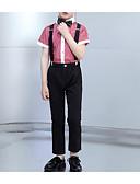 זול חליפות לנושאי הטבעת-שחור פוליאסטר חליפה לנושא הטבעת  - 1set כולל חולצה / Pants / עניבת פרפר