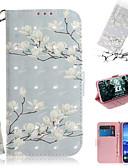 זול מגנים לטלפון-מגן עבור Huawei Huawei Nova 3i / נווה נווה 4 / Huawei נובה 4e ארנק / מחזיק כרטיסים / עם מעמד כיסוי מלא פרח עור PU