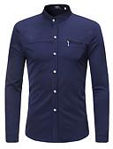 hesapli Gömlek-Erkek Gömlek Solid Temel AB / ABD Beden Beyaz / Uzun Kollu