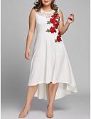 hesapli Maksi Elbiseler-Kadın's Vintage Kılıf Elbise - Çiçekli, Dantel Nakış Maksi
