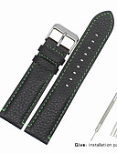 hesapli Deri Saat Bandı-Gerçek Deri / Deri / Buzağı Tüyü Watch Band kayış için Siyah Diğer 2cm / 0.8 İnç / 2.2cm / 0.9 İnç / 2.3cm / 0.91 İnç