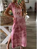 abordables Combinaisons Femme-Femme Maxi Gaine Robe Couleur Pleine Orange Violet Fuchsia L XL XXL Manches Courtes