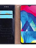 זול מגנים לטלפון-מגן עבור Samsung Galaxy Galaxy M10 (2019) מחזיק כרטיסים / נפתח-נסגר כיסוי מלא אחיד קשיח עור PU