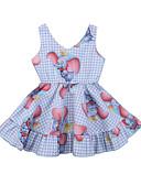 זול אוברולים טריים לתינוקות-שמלה ללא שרוולים דפוס בנות תִינוֹק