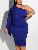 זול שמלות במידות גדולות-עד הברך טלאים, אחיד - שמלה צינור נדן פאנק & גותיות אלגנטית בגדי ריקוד נשים