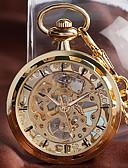 Недорогие Карманные часы-Муж. Карманные часы Механические, с ручным заводом Золотистый Повседневные часы Крупный циферблат Аналоговый На каждый день Новое поступление - Золотой
