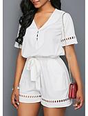 billige Skjorter til damer-Dame Grunnleggende Svart Vin Hvit Sparkedrakter, Ensfarget S M L