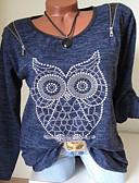 hesapli Tişört-Kadın's Tişört Desen, Geometrik Temel Navy Mavi