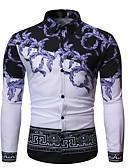 זול חולצות לגברים-גיאומטרי בסיסי חולצה - בגדי ריקוד גברים שחור