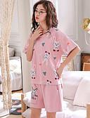 preiswerte Pyjamas-Damen Anzüge Nachtwäsche Blau Rosa Leicht Braun XL XXL XXXL
