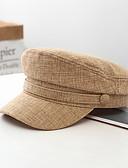 זול כובעים לגברים-כל העונות שחור פול חום כובע בייסבול אחיד כותנה פעיל בסיסי סגנון חמוד בגדי ריקוד גברים בגדי ריקוד נשים
