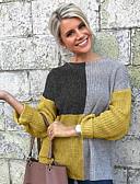 povoljno Ženski jednodijelni kostimi-Žene Color block Dugih rukava Pullover, Okrugli izrez Crn / Bijela S / M / L
