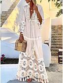 お買い得  イブニングドレス-女性用 エレガント スウィング ドレス ソリッド マキシ