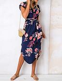 hesapli Print Dresses-Kadın's Kılıf Elbise - Geometrik, Desen Midi