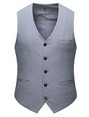 hesapli Erkek Blazerları ve Takım Elbiseleri-Erkek Vesta V Yaka Polyester Siyah / Açık Gri / Havuz US36 / UK36 / EU44 / US38 / UK38 / EU46 / US40 / UK40 / EU48