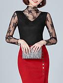 hesapli İki Parça Kadın Takımları-Kadın's Tişört Kırk Yama, Solid Temel Siyah