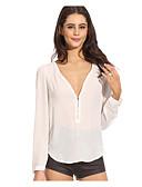 billige Skjorter til damer-Bluse Dame - Ensfarget Svart