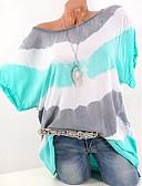 hesapli Tişört-Kadın's Tişört Desen, Çizgili Temel / Çin Stili Yonca