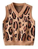 povoljno Džemperi i kardigani za dječake-Djeca Dijete koje je tek prohodalo Dječaci Aktivan Osnovni Leopard Print Bez rukávů Džemper i kardigan Svjetlosmeđ