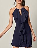 hesapli Mini Elbiseler-Kadın's Zarif Kılıf Elbise - Solid Diz üstü