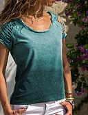 hesapli Kadın Etekleri-Kadın's Tişört Solid Büyük Bedenler Mor