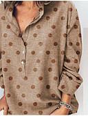 billige T-skjorter til damer-Skjorte Dame - Polkadotter, Lapper / Trykt mønster Grunnleggende Oransje