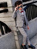 povoljno Kompletići za dječake-Djeca Dječaci Osnovni Prugasti uzorak Dugih rukava Komplet odjeće Sive boje