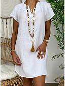hesapli Mini Elbiseler-Kadın's Kombinezon Elbise - Solid Diz üstü