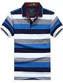 hesapli Erkek Polo Tişörtleri-Erkek Polo Çizgili Temel Sarı