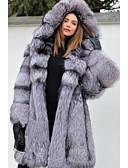 povoljno Ženske kaputi od kože i umjetne kože-Dugih rukava Umjetno krzno Vjenčanje Ženski ogrtač S Kapa / Fur Sakoi / jakne