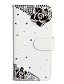 זול מגנים לטלפון-מגן עבור Xiaomi Xiaomi Redmi הערה 5 / Xiaomi Redmi 7 / הערה 7 ארנק / מחזיק כרטיסים / ריינסטון כיסוי מלא פרפר / פרח עור PU