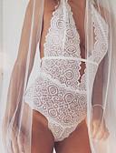 hesapli Sutyenler-Kadın's Etekler - Solid Arkasız / Dantelli Beyaz M L XL / Derin V / Teddy / Süper Seksi