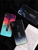 זול מגנים לאייפון-מארז עבור apple iphone xs max / iphone 8 בתוספת אטום לאבק / עם כיסוי אחורי לעמוד שמיים / צבע שיפוע צבעוני / זכוכית מחוסמת עבור iphone 7/7 פלוס / 8/6/6 פלוס / xr / x / xs