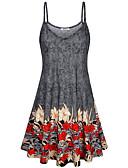 זול שמלות מיני-עד הברך פרחוני - שמלה סווינג בסיסי בגדי ריקוד נשים