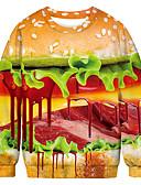 hesapli Erkek Tişörtleri ve Atletleri-Erkek Cadılar Bayramı / Noel Svetşört - Zıt Renkli / 3D