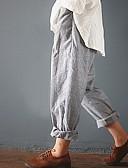 hesapli Kadın Etekleri-Kadın's Temel Harem Pantolon - Çizgili Siyah Havuz Gri S M L