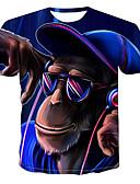 hesapli Smartwatch Bantları-Erkek Tişört Desen, Zıt Renkli / Hayvan Sokak Şıklığı / Punk ve Gotik Havuz