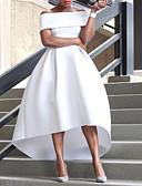 hesapli Gelin Annesi Elbiseleri-A-Şekilli Düşük Omuz Asimetrik Saten ile Resmi Akşam Elbise tarafından LAN TING Express