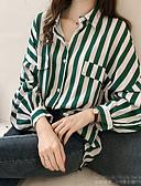 hesapli Tişört-Kadın's Bluz Çizgili Siyah